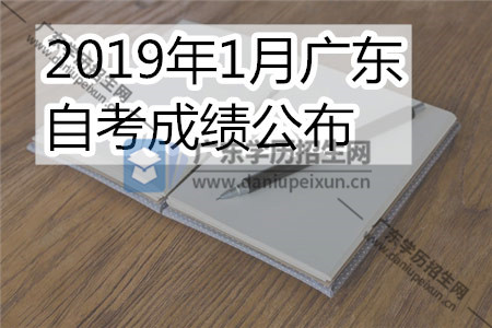 2019年1月广东自考成绩公布